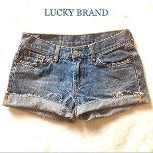 LUCKY BRAND CUT-OFF JEANS SHORTS